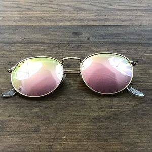 60d671ec85 SojoS Accessories - SojoS Round Polarized Mirror Sunglasses Pink Gold